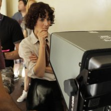 Miranda July sul set di The Future