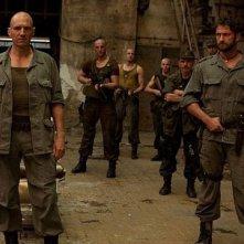 Ralph Fiennes e Gerard Butler nel film Coriolanus