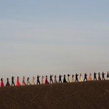 Una colorata sequenza coreografica del film 'Pina', dedicato a Pina Bausch