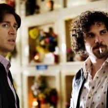 Alessandro Roja e Francesco Montanari in un flashback dell'ultimo episodio di Romanzo Criminale 2