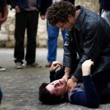 Il Freddo (Vinicio Marchioni) e Ruggero Buffoni (Edoardo Pesce) in una scena del nono episodio di Romanzo Criminale 2