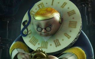 Il Grande Orologiaio in una scena della serie Il Piccolo Principe