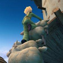 Il protagonista in azione nella serie d'animazione Il Piccolo Principe