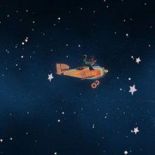 In viaggio tra i pianeti in una scena della serie Il Piccolo Principe
