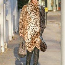 Kylie Minogue mentre lascia la sua casa per il London Palladium