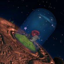 La Rosa legge la lettera in una scena della serie Il Piccolo Principe