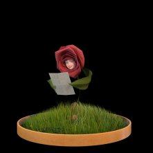 Un'immagine promozionale di Rosa dalla serie animata Il Piccolo Principe