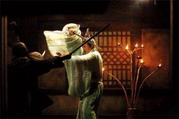 Una scena del dramma cinese Sacrifice