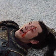 Huang Xiaoming in una scena del combattimento nel film Sacrifice