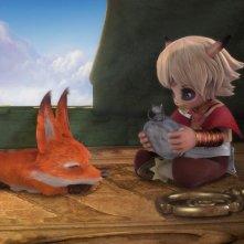 Volpe e Caracatus in una scena della serie Il Piccolo Principe