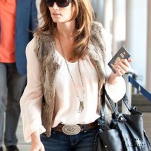 Cindy Crawford all'aeroporto di Los Angeles