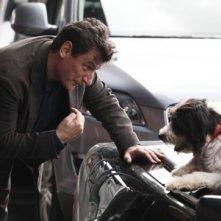 Giorgio Tirabassi in una scena della fiction Un cane per due