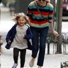 Michelle Williams sul set del film Blue Valentine con la figlia Matilda Ledger