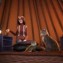 Sammy con Fluffy e la sua padroncina nel film Le avventure di Sammy - Il passaggio segreto