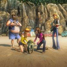 Una gruppo di umani nel film d'animazione Le avventure di Sammy - Il passaggio segreto