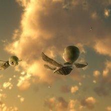Un momento del film d'animazione Il giro del mondo in 50 anni - 3D