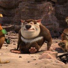 Charles con Smiley e Toby nel film Animals United