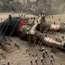 Un'immagine del film I fantastici viaggi di Gulliver in 3D con Jack Black