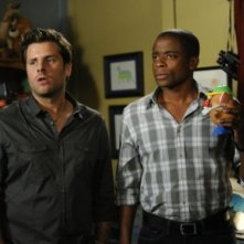 James Roday e Dule Hill nell'episodio Yin 3 in 2D di Psych