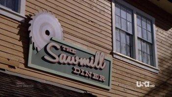 Un'immagine dell'episodio Dual Spires di Pych, omaggio a Twin Peaks