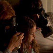 Michael Shannon e Jessica Chastain in un'angosciante immagine di Take Shelter