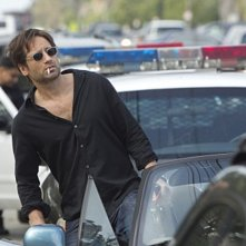 David Duchovny nell'episodio Exile on Main St., premiere della stagione 4 di Californication
