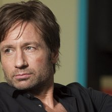 Un primo piano di David Duchovny dall'episodio Exile on Main St., premiere della stagione 4 di Californication