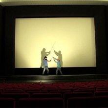 Una scena del documentario L'elefante occupa spazio