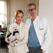 Katja Flint con Leander Haußmann in una scena di Die Superbullen