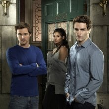 Sam Huntington, Meaghan Rath e Sam Witwer in una foto promozionale di Being Human
