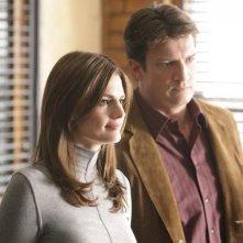 Nathan Fillion e Stana Katic nell'episodio Close Encounters of the Murderous Kind di Castle