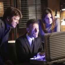 Nathan Fillion, Lyle Lovett e Stana Katic nell'episodio Close Encounters of the Murderous Kind di Castle