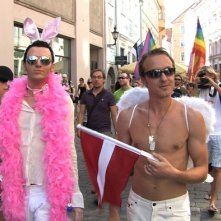 Una sequenza del documentario LGBT homo@lv