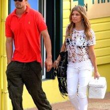 Fergie (Stacy Ferguson) e il marito Josh Duhamel in vacanza