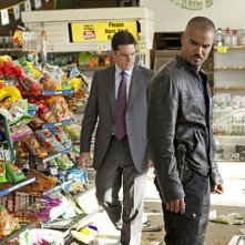 Thomas Gibson e Shemar Moore nell'episodio The Thirteenth Step di Criminal Minds
