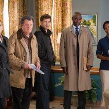 John Noble, Anna Torv, Lance Reddick e Joshua Jackson nell'episodio Firefly di Fringe