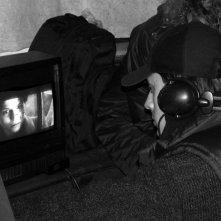 Massimo Coglitore sul set del suo cortometraggio Deadline, del 2002