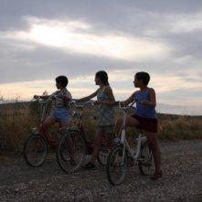 Matteo Basso, Amedeo Angelone e Francesca D'Amico in una scena del film Un giorno della vita