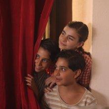 Matteo Basso, Amedeo Angelone e Francesca D'Amico, piccoli protagonisti del film Un giorno della vita