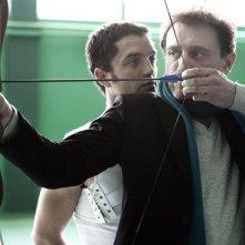 Guillaume Gouix con Jean-Paul Rouve in una scena del film Poupoupidou