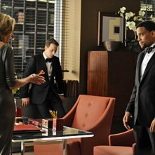 Christine Baranski, Josh Charles e Michael Ealy nell'episodio VIP Treatment di The Good Wife