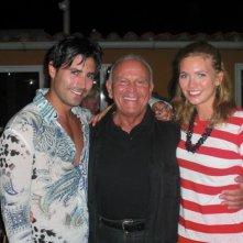 Enzo G Castellari con Maximiliano Hernando Bruno ed Eleonora Albrecht sul set di Caribbean Basterds