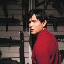Jay Chou senza maschera in una scena del film The Green Hornet