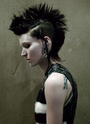 Profilo di Rooney Mara in The Girl with the Dragon Tattoo