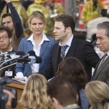 Seth Rogen e Cameron Diaz in una sequenza del film The Green Hornet