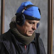 Michele Placido sul set del suo Vallanzasca