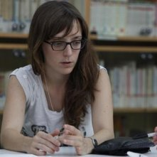 La regista Elena Trapé dirige il film Blog