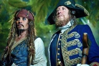 Capitan Jack Sparrow e Barbossa sperduti nella giungla di Pirati dei Caraibi: Oltre i confini del mare