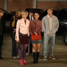 Il gruppo di amici in una scena dell'episodio Il terzo incomodo di The O.C.