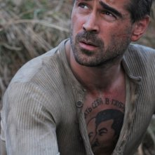 Un'immagine di Colin Farrell dal film The Way Back